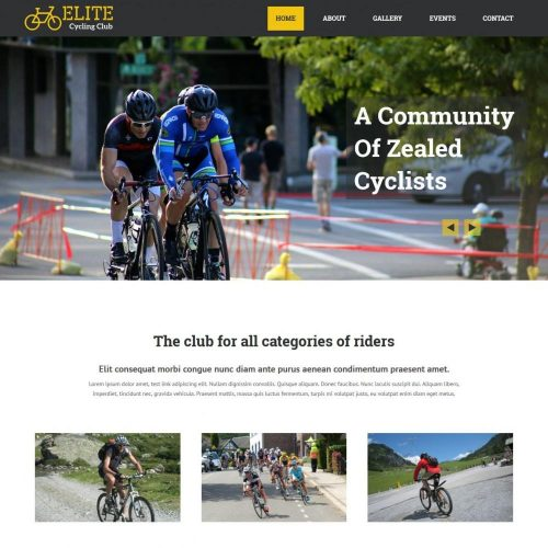 Elite Cycling Club - WordPress Theme