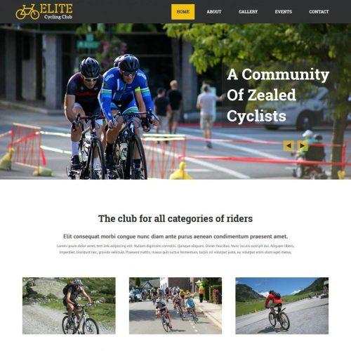 Elite Cycling Club - WordPress Theme