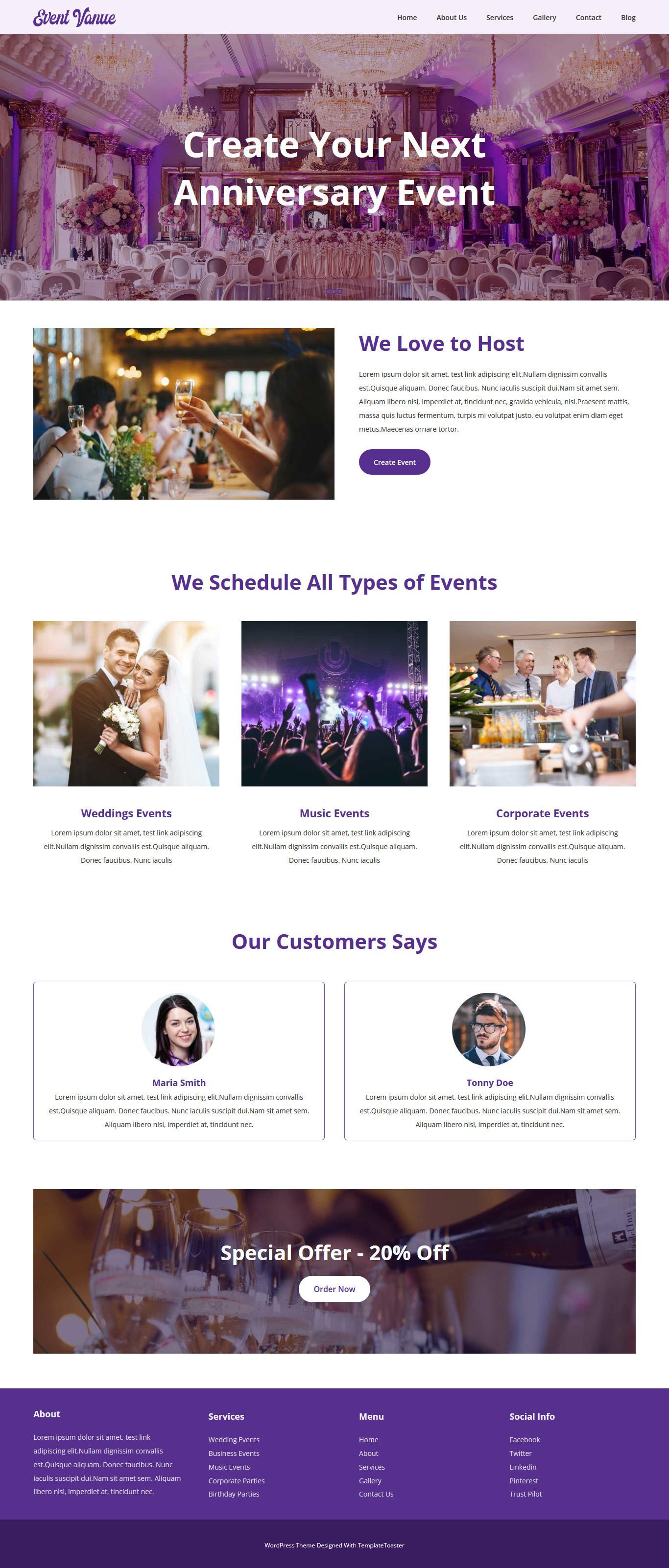 Event Venue - Event Management Free Joomla Template