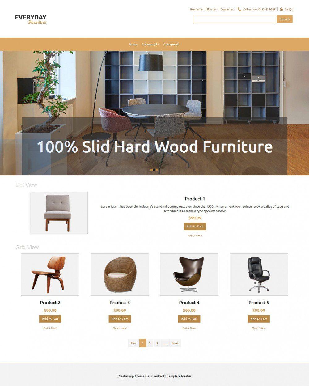 Everyday Furniture PrestaShop Theme
