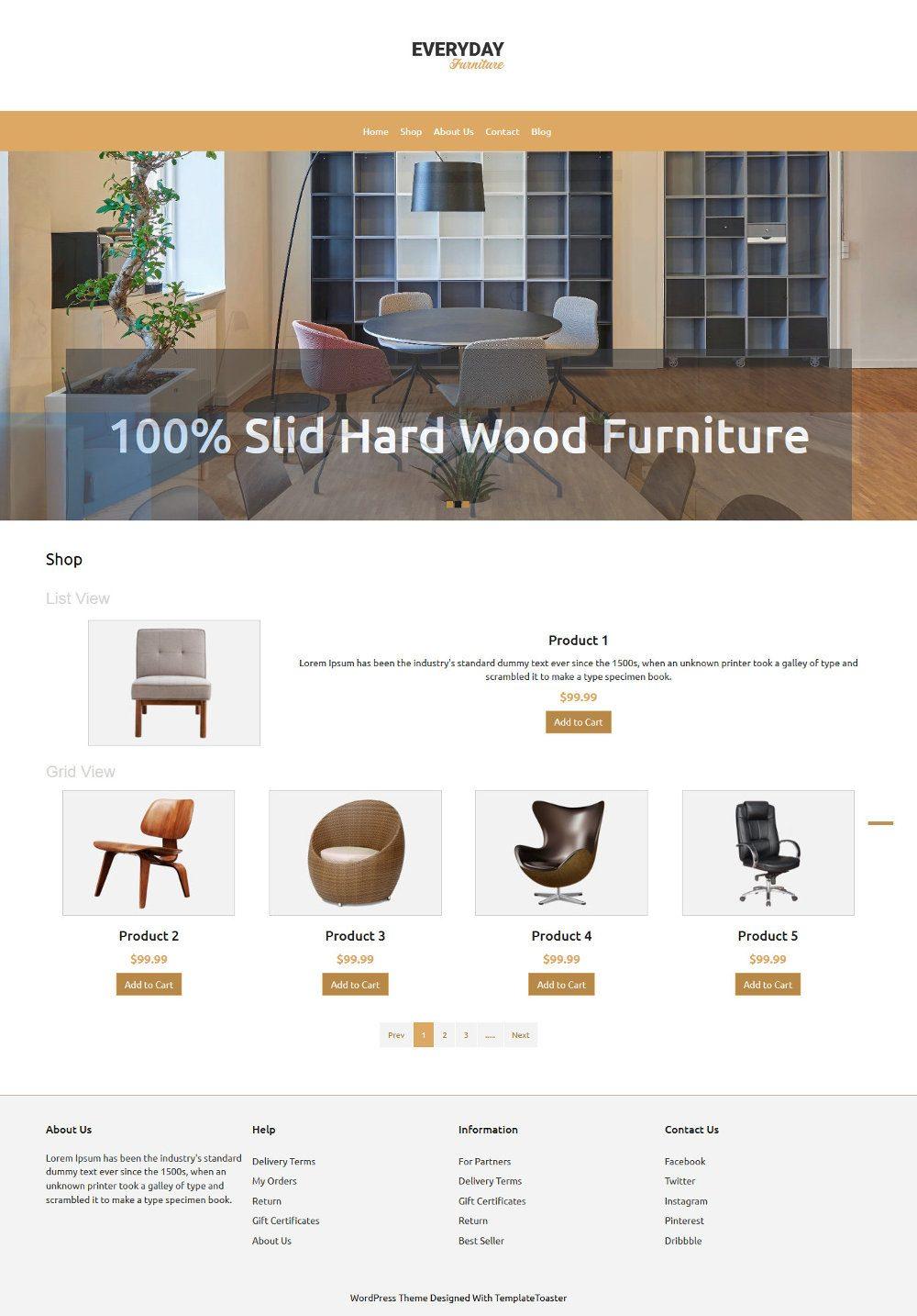 Everyday Furniture WooCommerce Theme
