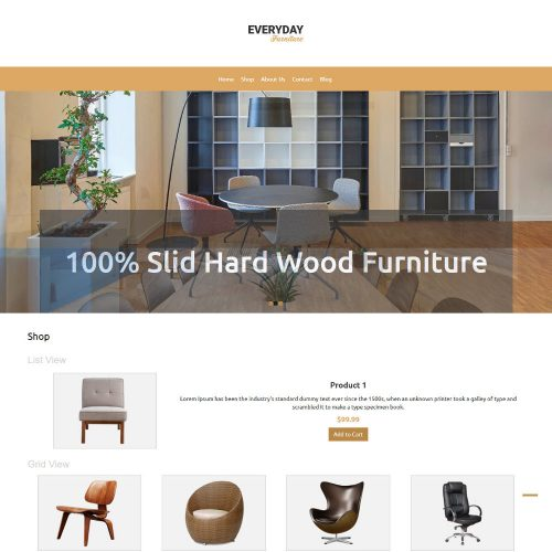 Everyday Furniture WooCommerce Theme