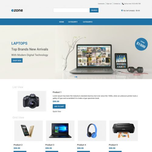 Ezone - Electronic Shop PrestaShop Theme