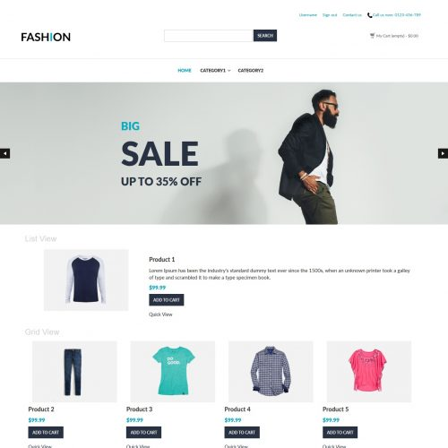 Fashion - Clothing Shop PrestaShop Theme