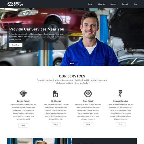 First Choice Auto Repairing Services Free WordPress Theme