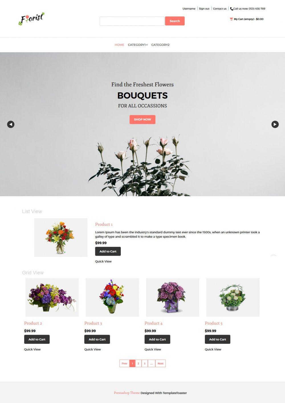 Florist - Flower Shop PrestaShop Theme