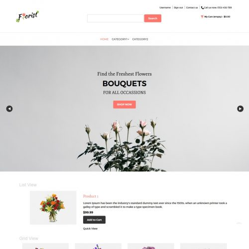 Florist - Flower Shop PrestaShop Theme