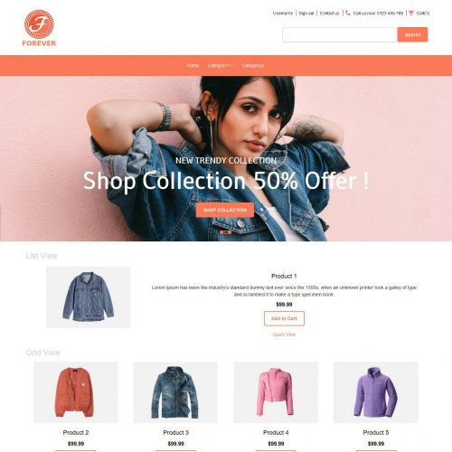 Forever Online Cloth Store PrestaShop Theme