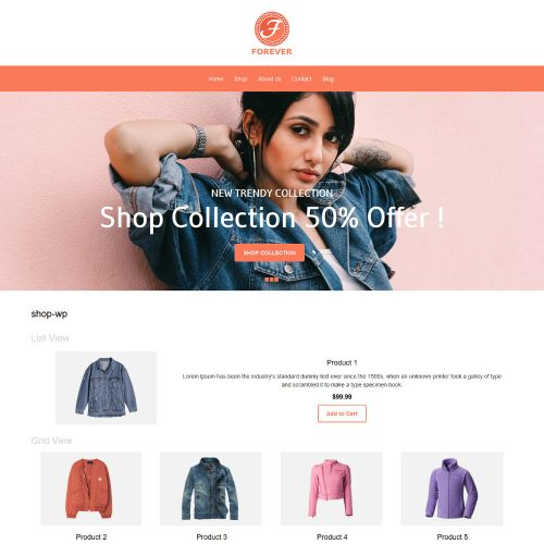 Forever Online Cloth Store WooCommerce Theme