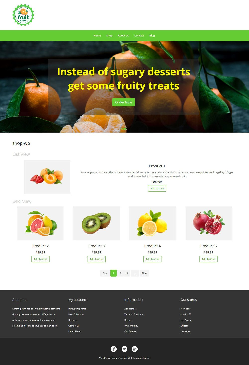 Fruit store Online Fruit Store WooCommerce Theme