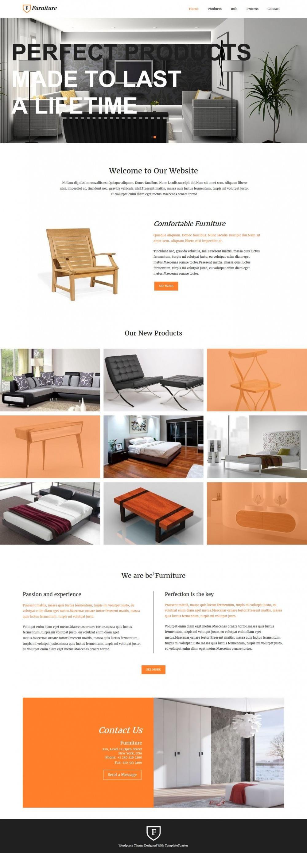 Furniture - WordPress theme for Furniture Enterprises