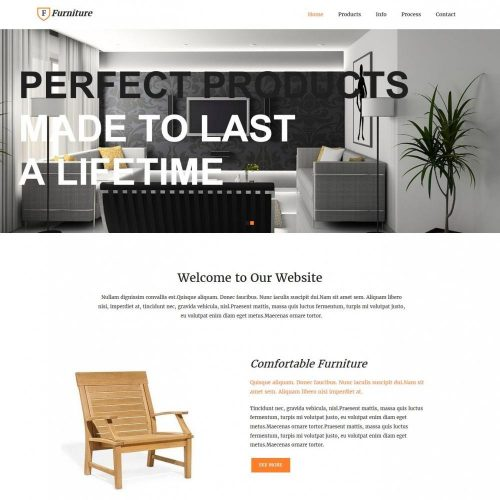 Furniture - WordPress theme for Furniture Enterprises
