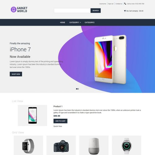Gadget World - Gadget Shop Prestashop Theme
