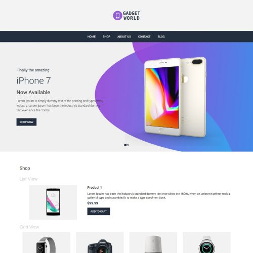 Gadget World - Gadget Shop WooCommerce Theme