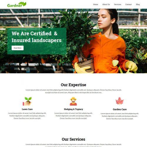 Gardener Gardening and Landscaping Free WordPress Theme