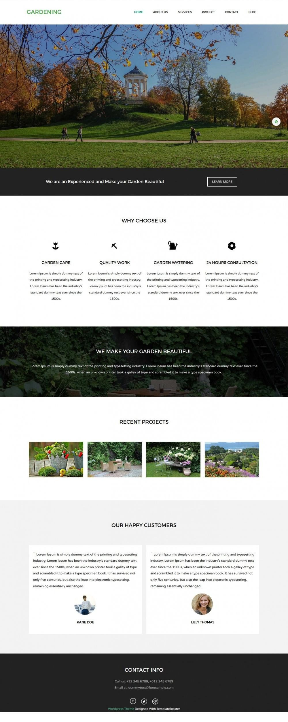 Gardening - Eco Nature/Garden WordPress Theme