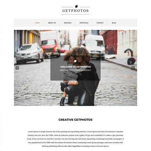 Get Photos - Creative/Stunning Photography WordPress Theme