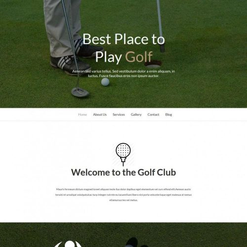Golf - Golf Academy/Club WordPress Theme