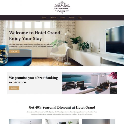 Grand Hotel Hotels And Resort Free WordPress Theme