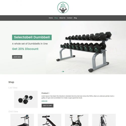 Gym Store - Fitness Equipment Shop WooCommerce Theme