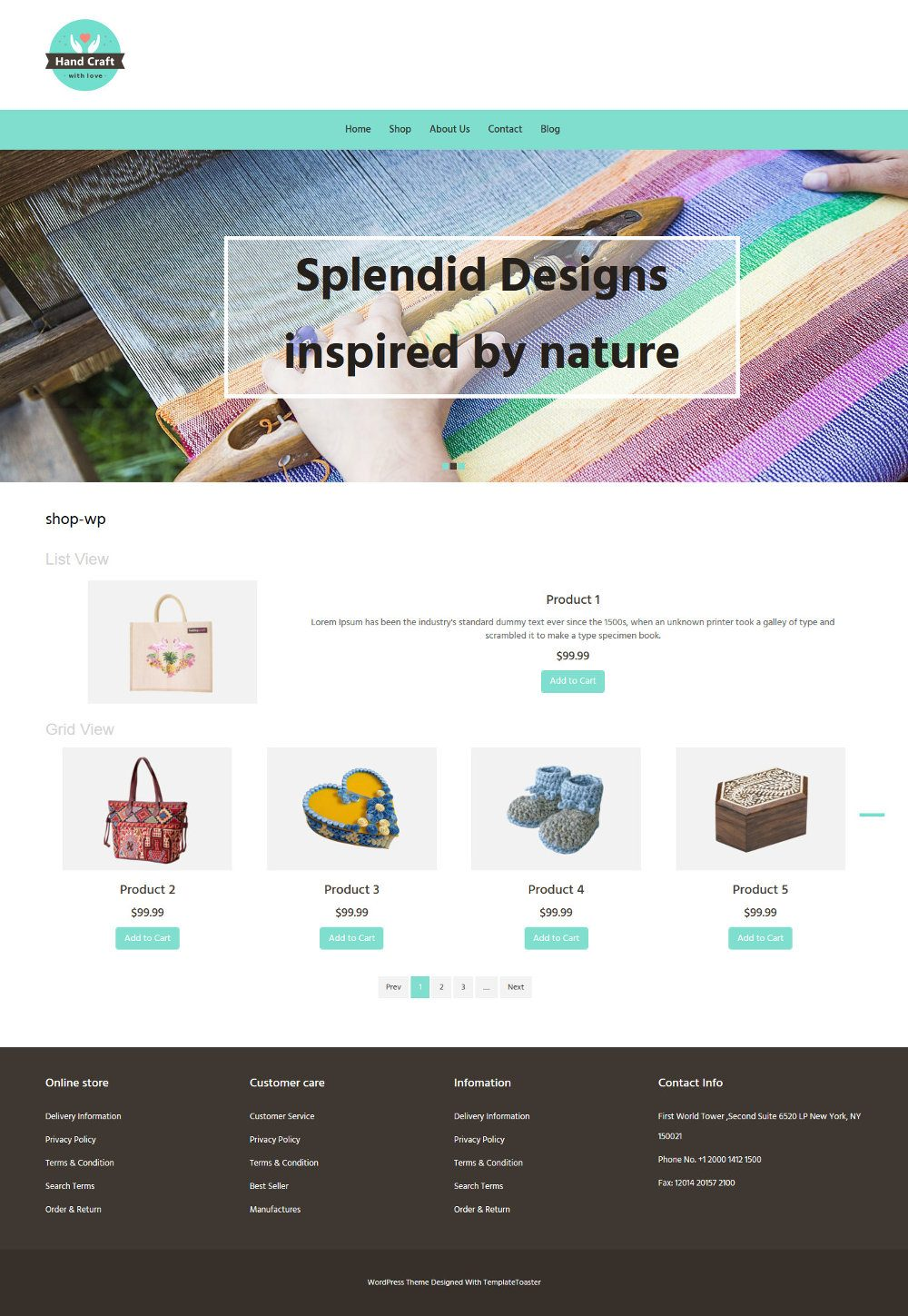 Hand Craft Items WooCommerce Theme