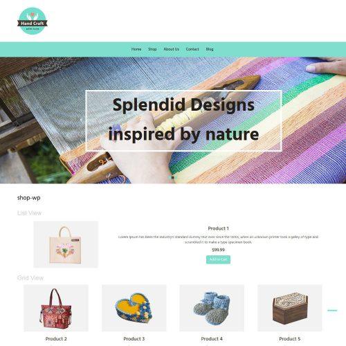 Hand Craft Items WooCommerce Theme