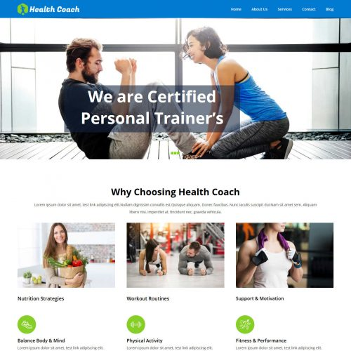 Health Coach Free WordPress Theme For Health Industry