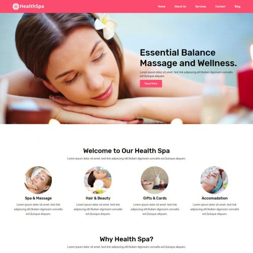 HealthSpa Salon and Spa Free Joomla Template
