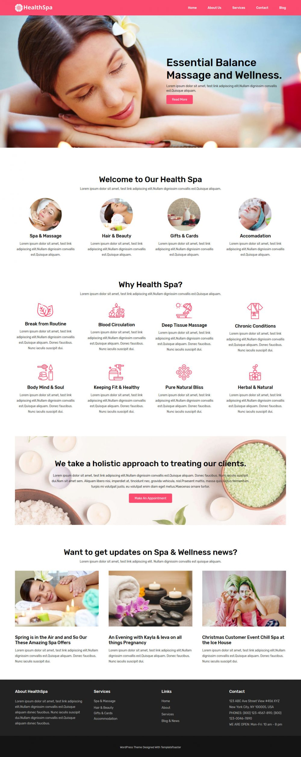HealthSpa Salon & Spa Free WordPress Theme