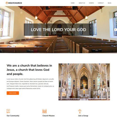 Holy Church Free WordPress Theme For Church