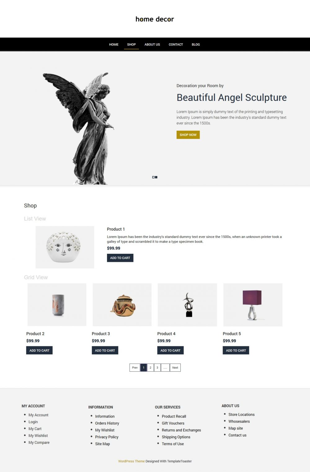 Home Decor - Home Interior Woocommerce Theme