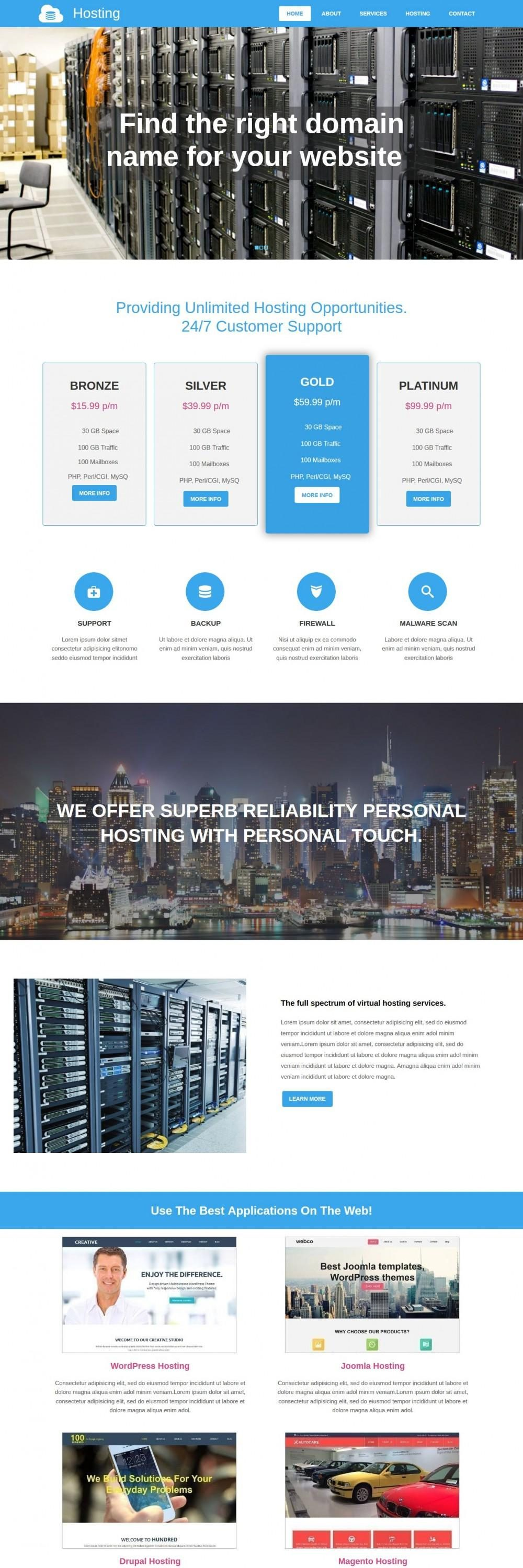 Hosting - Responsive WordPress Theme for Hosting
