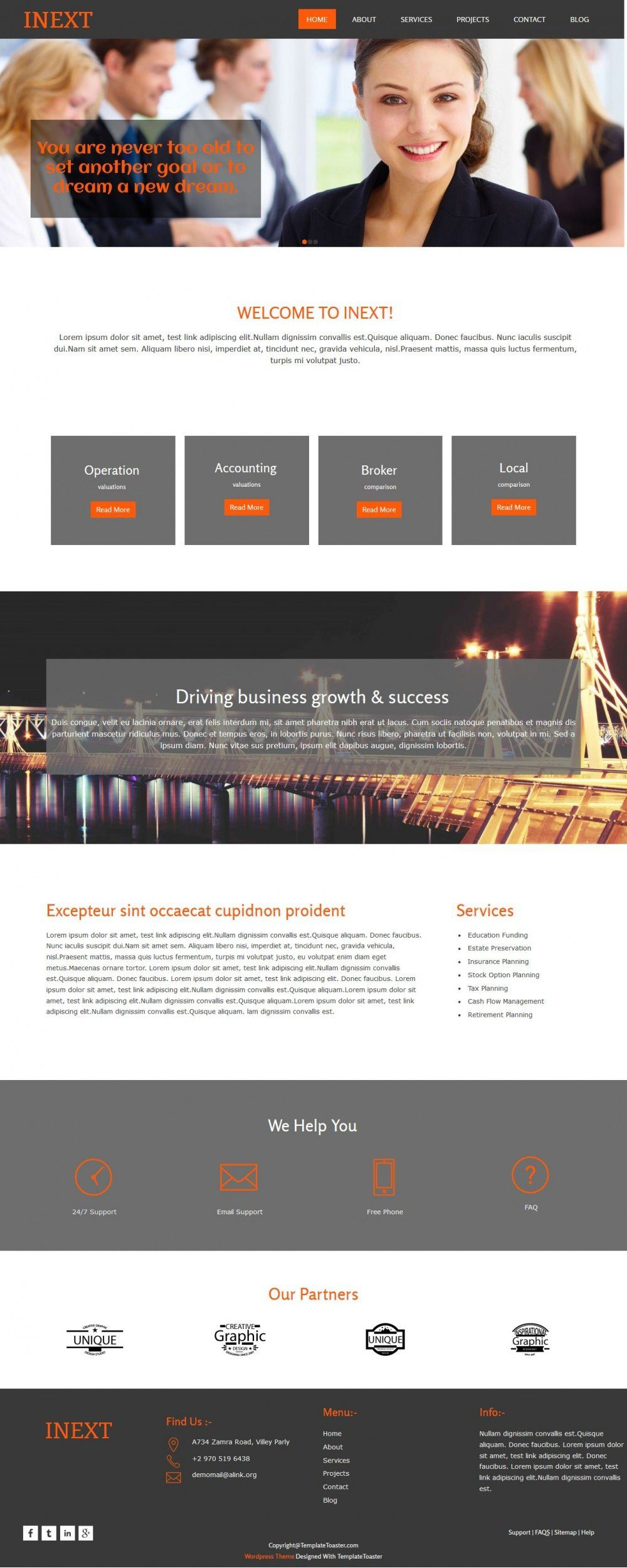 Inext - Business/Consultant WordPress Theme