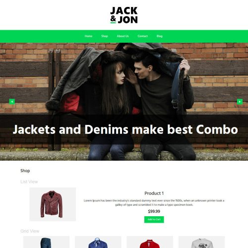 Jack & Jon Clothing WooCommerce Theme