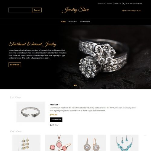 Jewelry Store - PrestaShop Theme