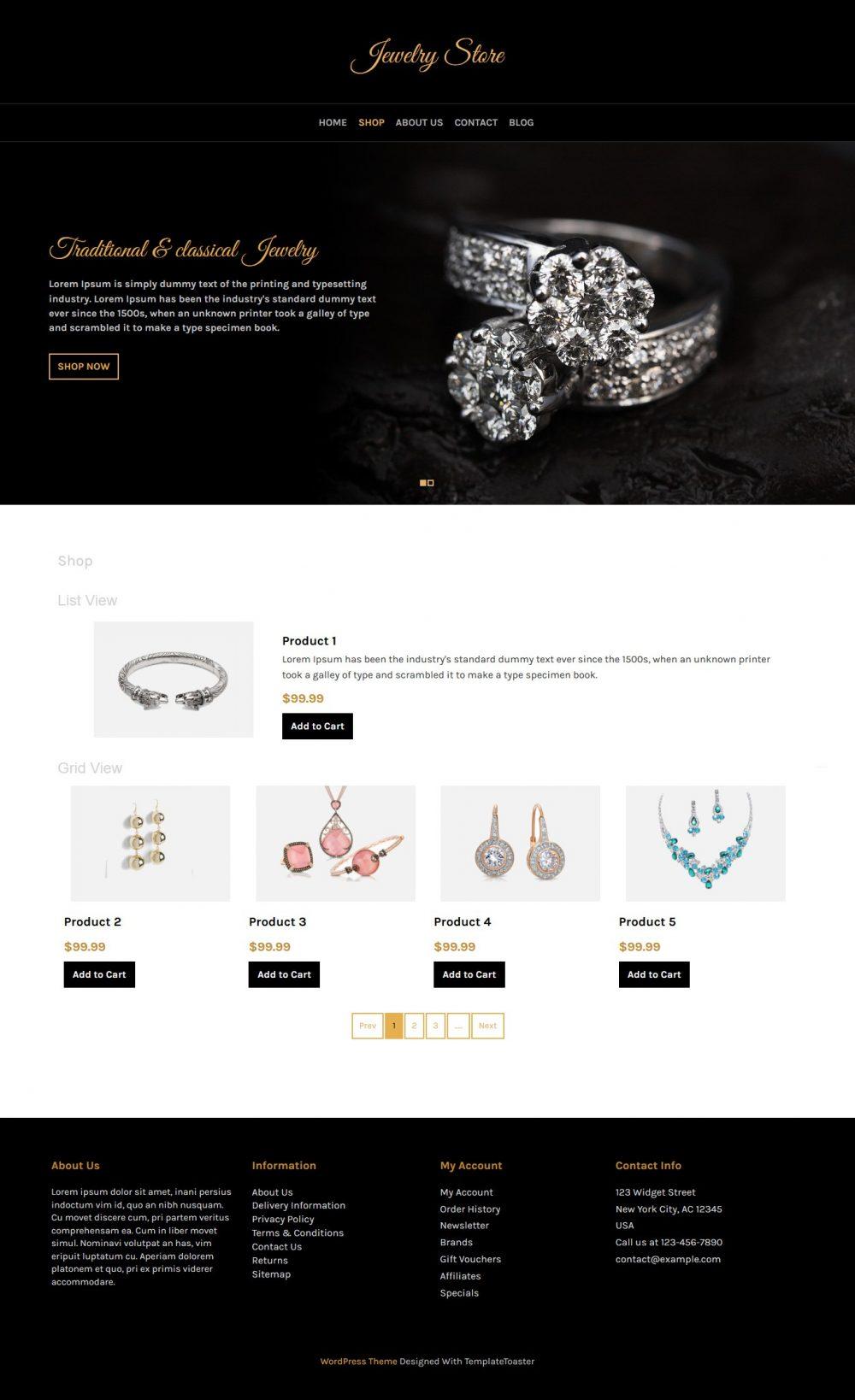Jewelry Store - WooCommerce Theme