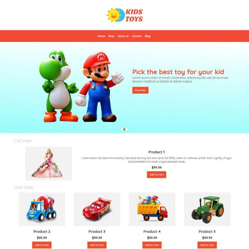 Kids Toys Store WooCommerce Theme