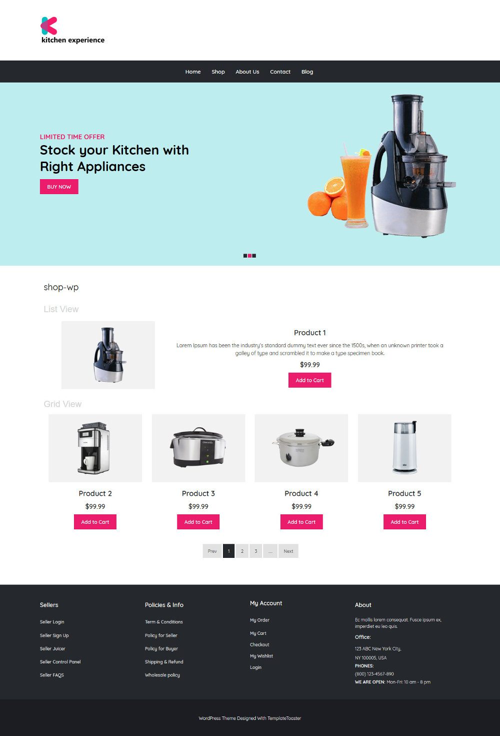 Kitchen Experience Kitchen Appliances WooCommerce Theme