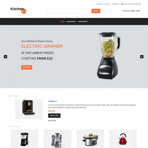 Kitchen Store - PrestaShop Theme