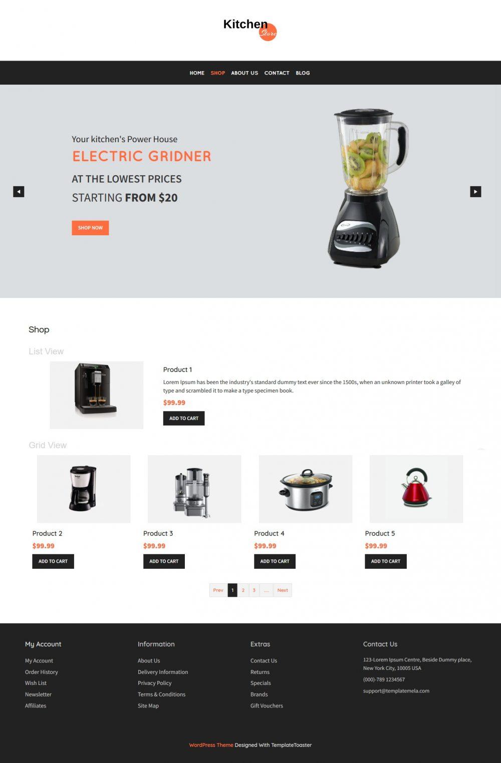 Kitchen Store - WooCommerce Theme
