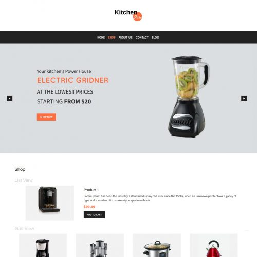 Kitchen Store - WooCommerce Theme