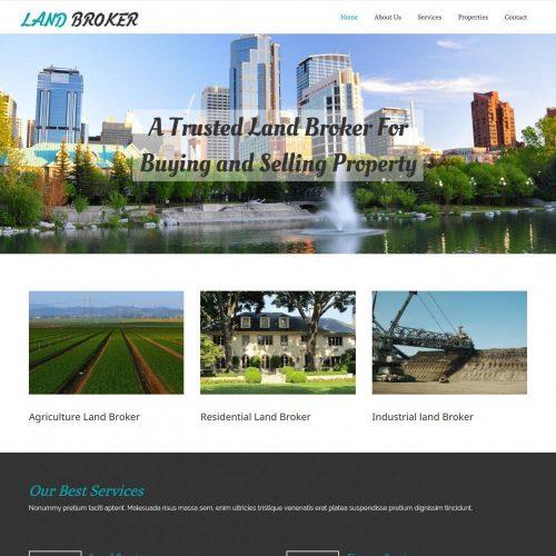 Land Broker - Real Estate/Broker Agency WordPress Theme