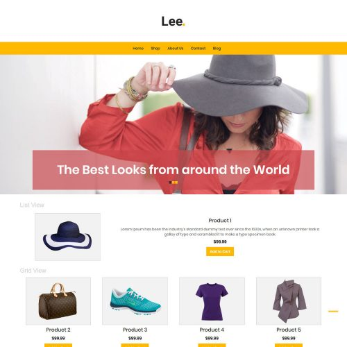 Lee Clothing Store WooCommerce Theme