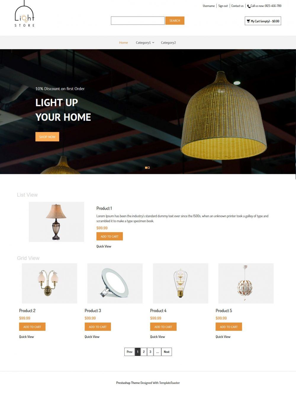 Light Store PrestaShop Theme