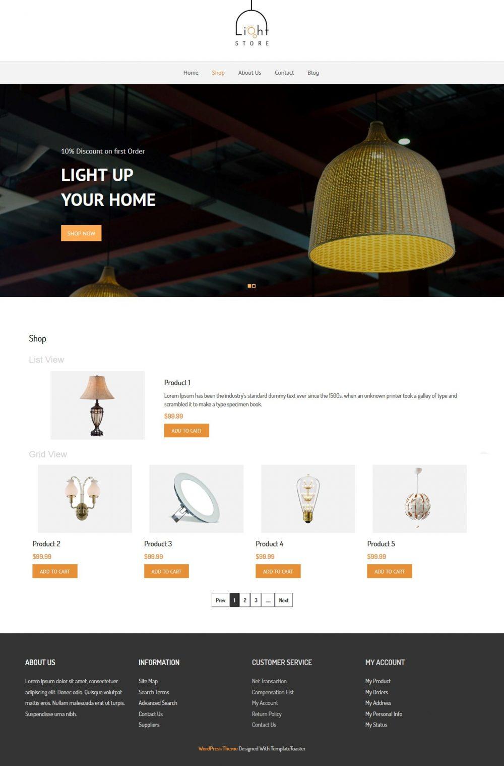 Light Store - WooCommerce Theme