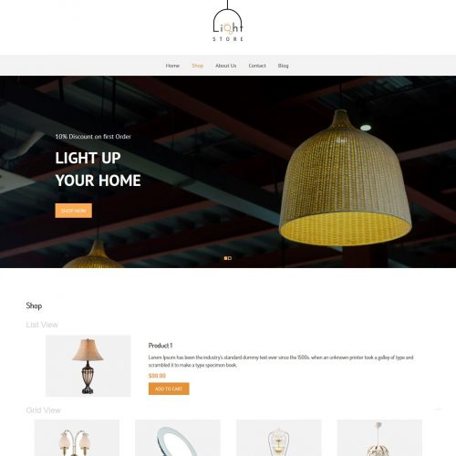Light Store - WooCommerce Theme