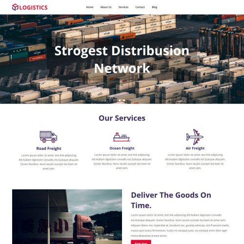 Logistics Company Free Joomla Template
