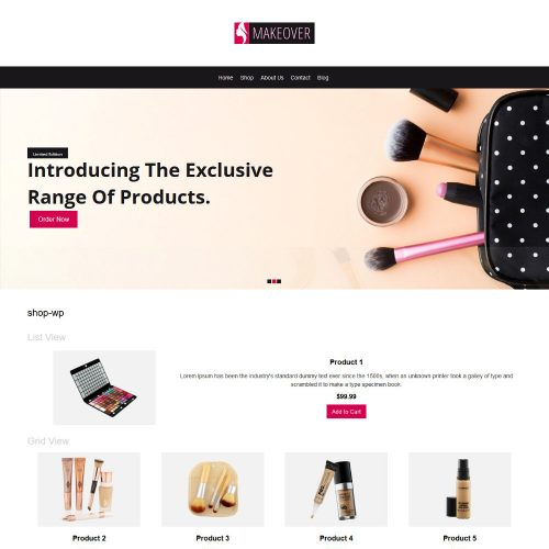 Makeover Makeup Accessories WooCommerce Theme