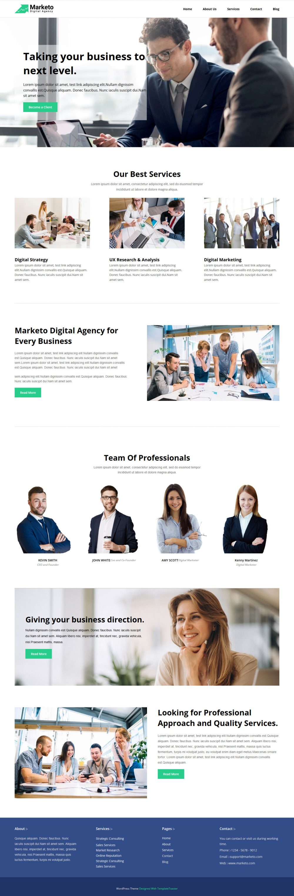 Marketo Marketing Consultancy Services Free WordPress Theme