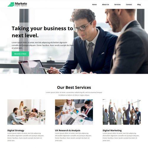 Marketo Marketing Consultancy Services Free WordPress Theme